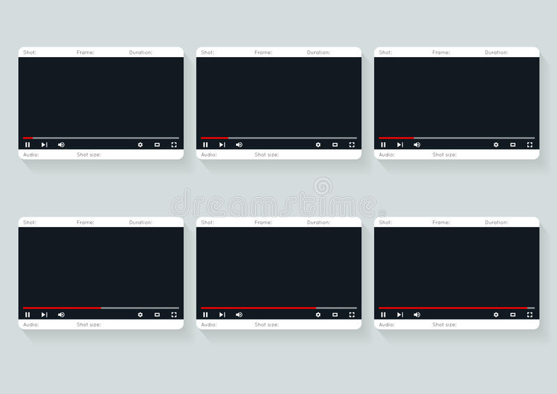 Film Storyboard Template Video   Design Stock Vector