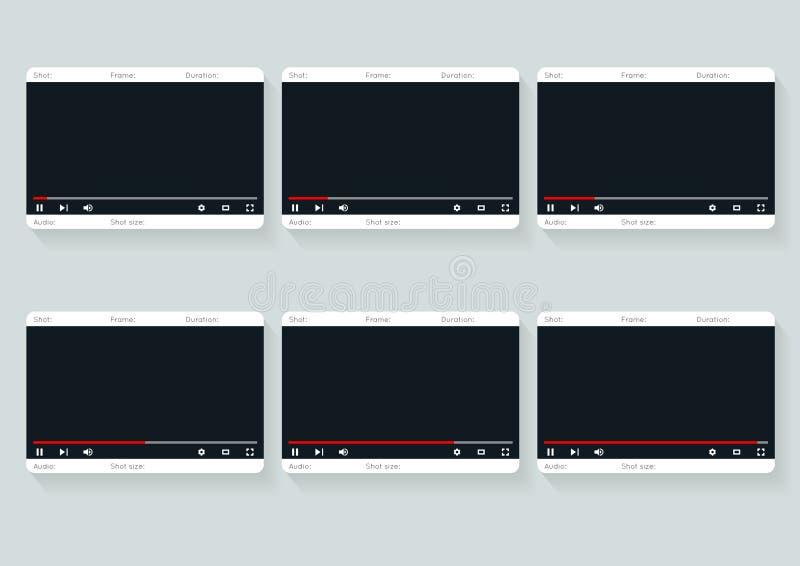 Film Storyboard Template Video   Design Stock Vector