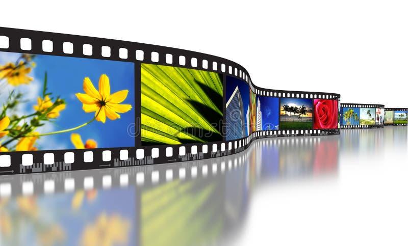 Film-Streifen-Konzept lizenzfreies stockfoto