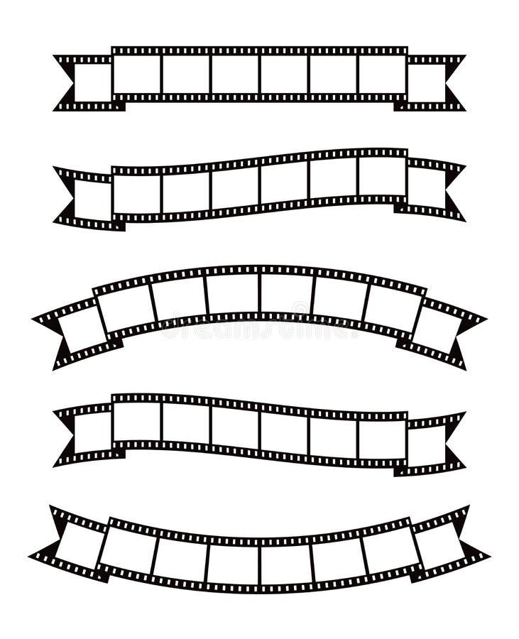 Film streift Fahnenband ab lizenzfreie abbildung