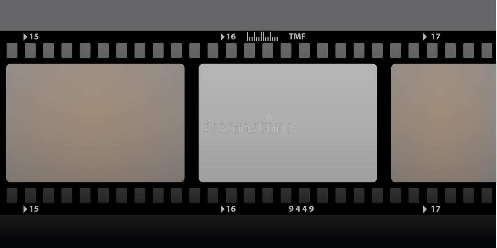 Film strip. Old film strip color illustration vector illustration