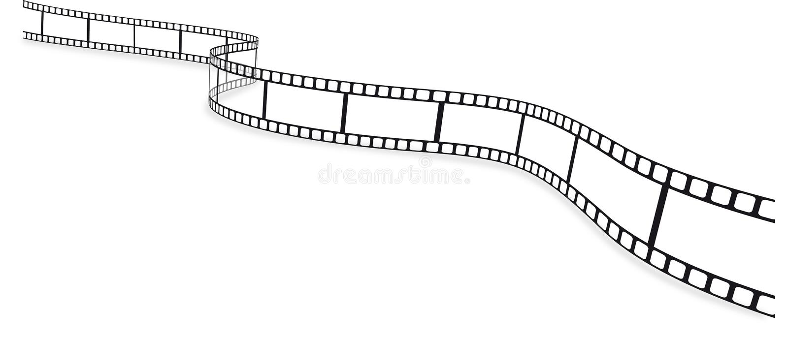 Film strip. An empty vector film strip vector illustration