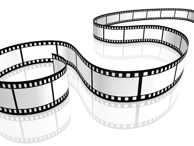 Film strip. An image of a film strip white stock illustration