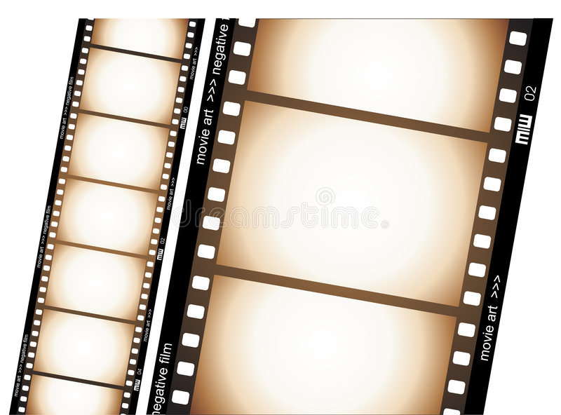 Film strip. Vectorial illustration with old negative film strip royalty free illustration