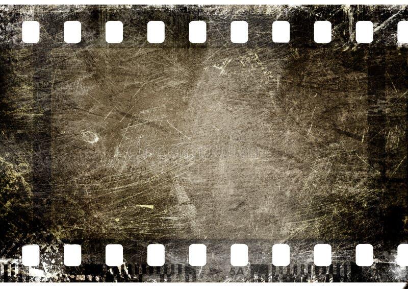 Film strip. 35 mm film strip on grunge background vector illustration