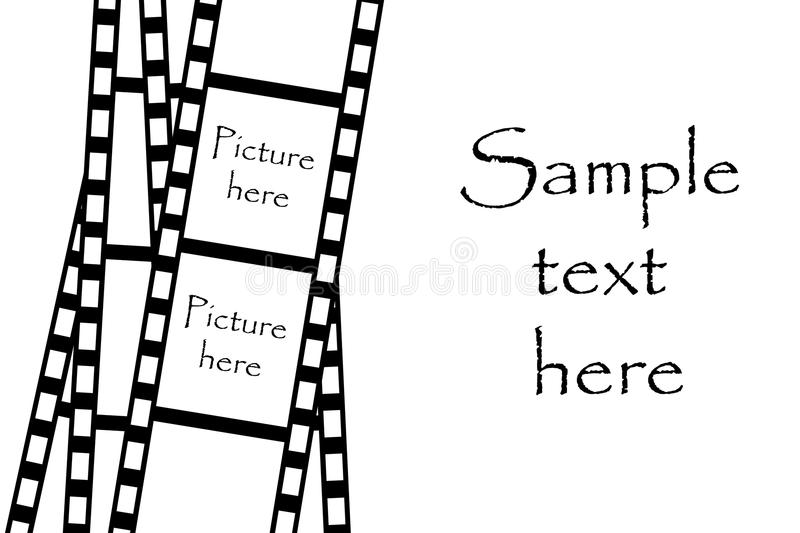 Film strip. Isolated on white background stock illustration