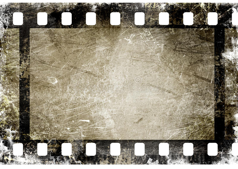 Film strip. 35 mm film strip on grunge background royalty free illustration