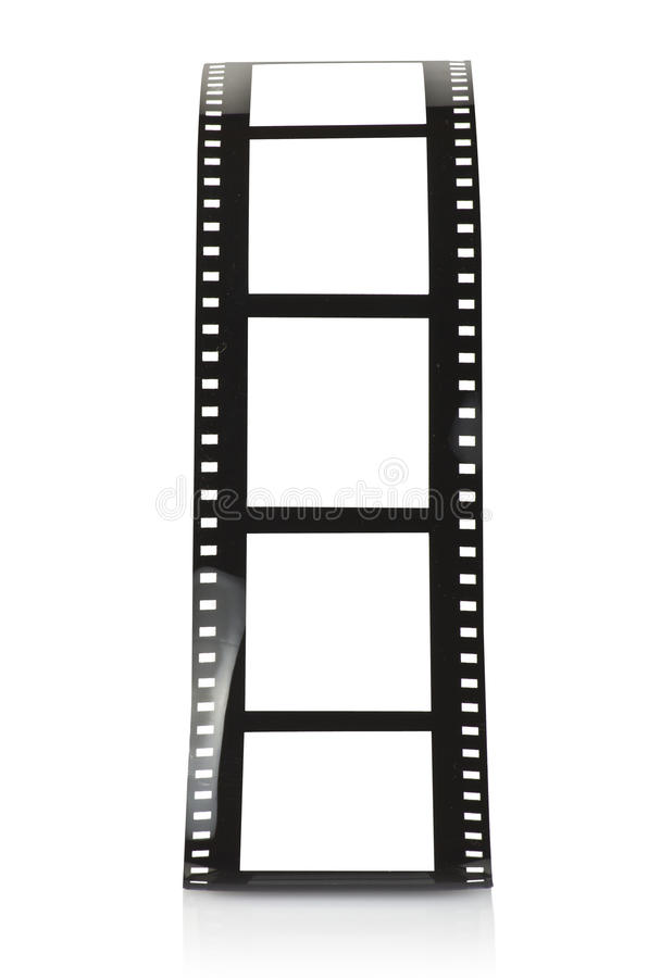 Film strip. Blank film strip on white stock images