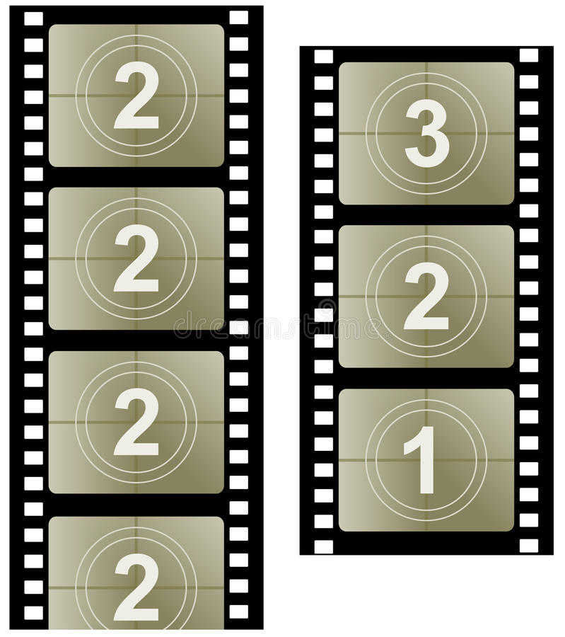 Film strip. Illustration of film strip. Film symbol vector illustration