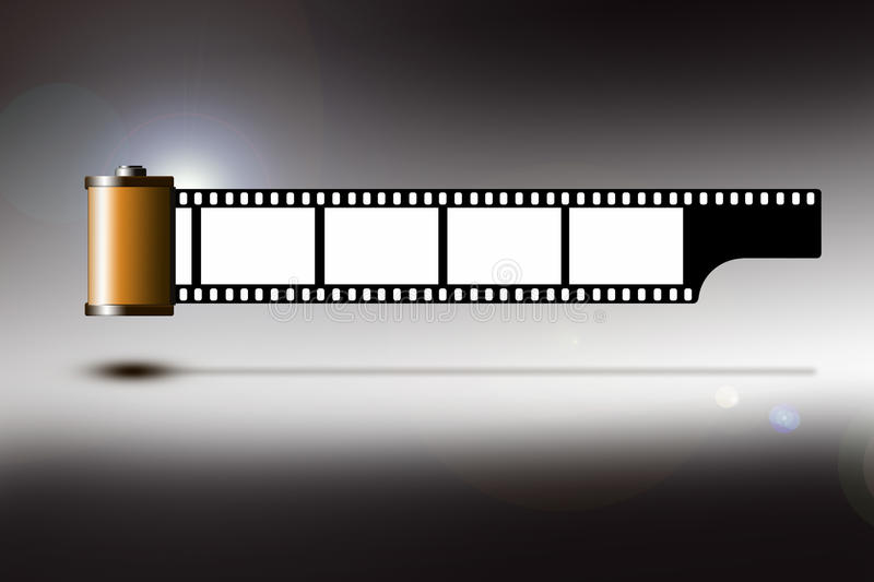 Download Film strip stock illustration. Image of entertainment - 24923772