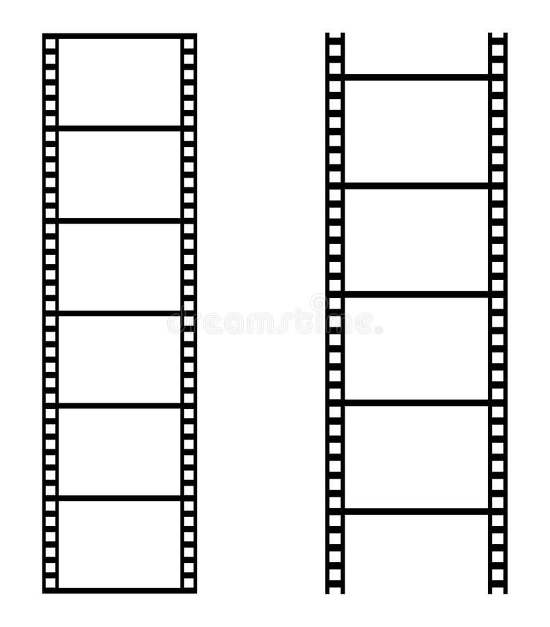 Film strip. Simple illustration of film strip on white background vector illustration