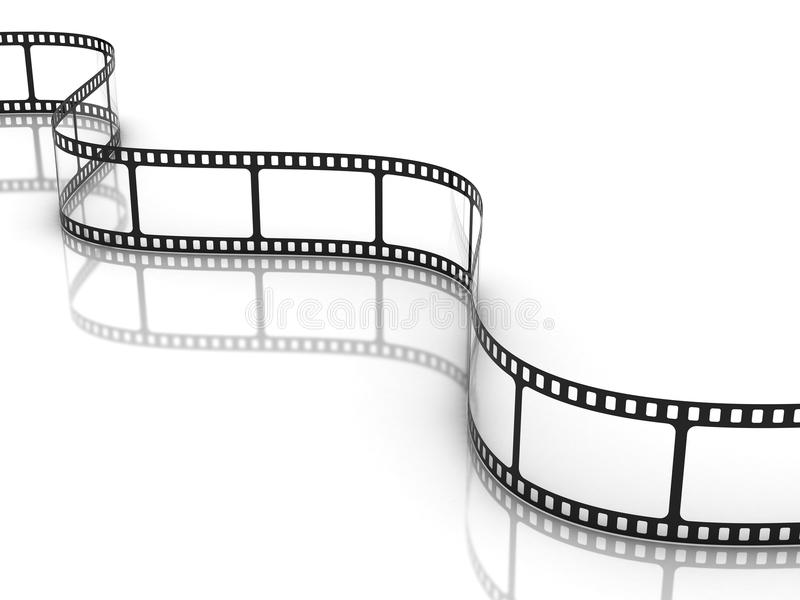 Film strip. On white background vector illustration