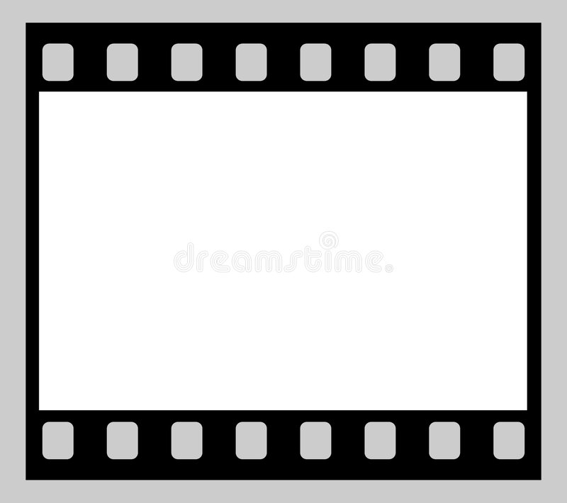 Film Strip. Single 35mm Film Negative Frame, Space For Own Picture Or Text stock illustration