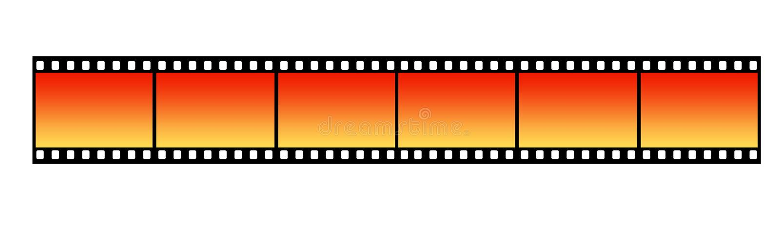 Film Strip. Long Film Strip With Six Frames, 35mm Format, Background royalty free illustration