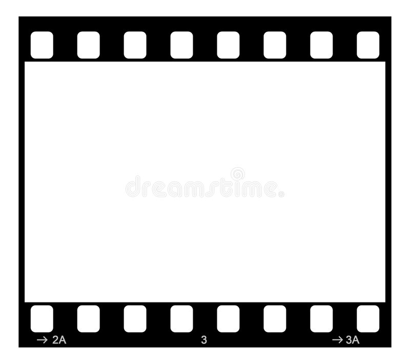 Film Strip. Single 35mm Film Negative Frame, Space For Own Picture Or Text royalty free illustration