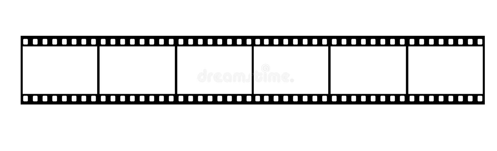 Film Strip. Long Film Strip With Six Frames, 35mm Format, Background stock illustration