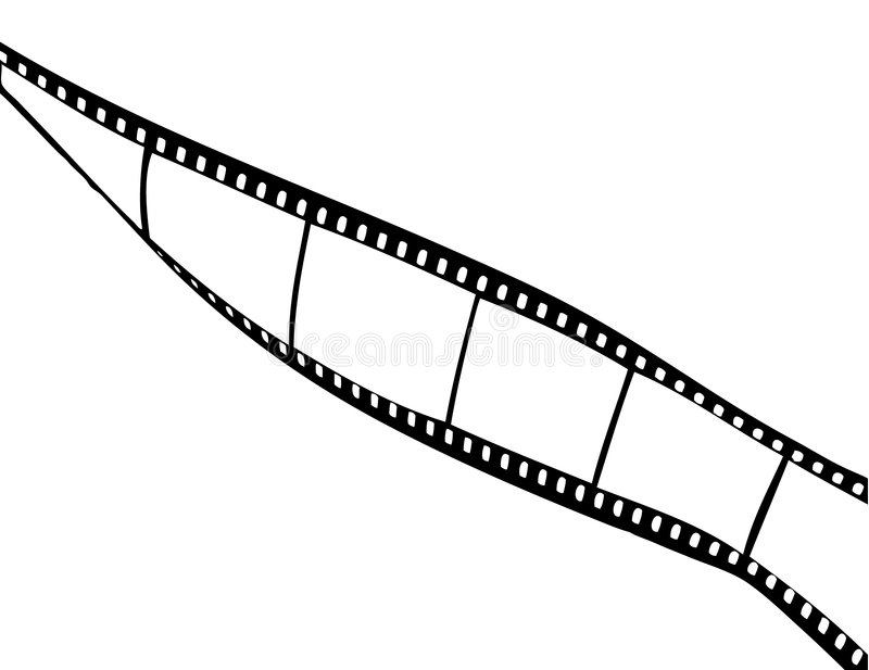 Film strip. With empty fields isolated on white stock illustration