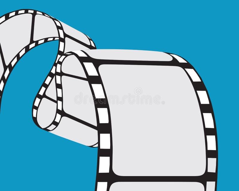 Film strip. Isolated film strip. Vector illustration royalty free illustration