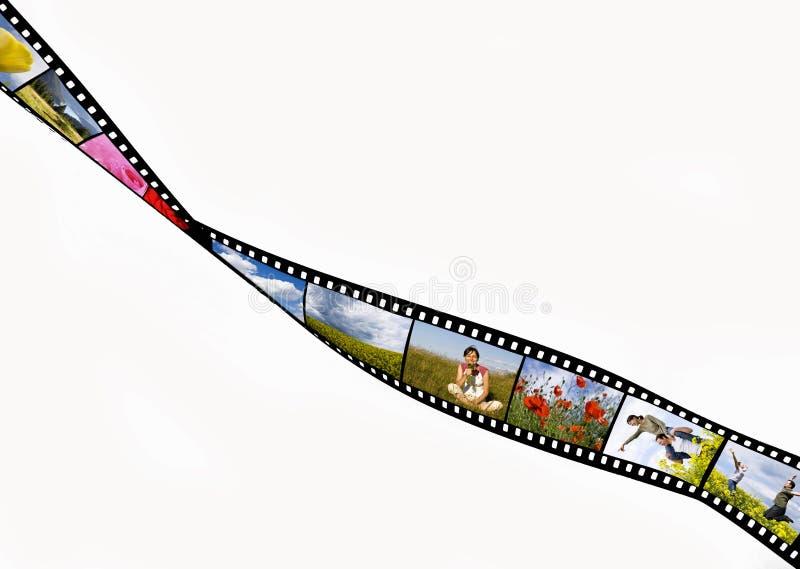 Film strip. With summer vacation photos stock photos