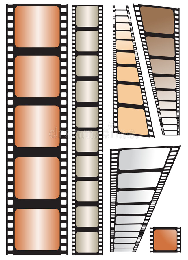 Film strip. Vector illustration on white background royalty free illustration