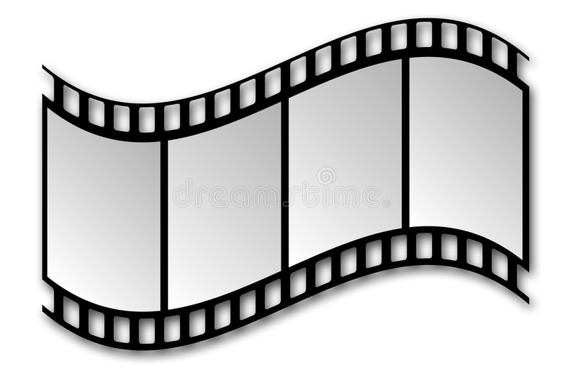 Film Strip. With Shadow on White Background royalty free illustration