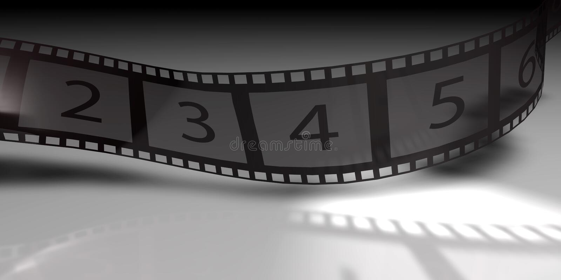 Film Strip. 3d background of a film reel vector illustration