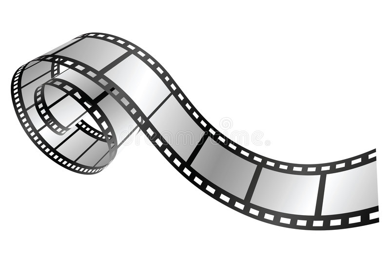 Film strip. Isolated film strip. vector illustration stock illustration