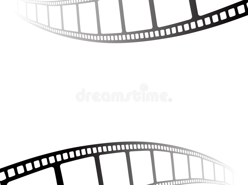 Film strip. Design - film coming from role royalty free illustration