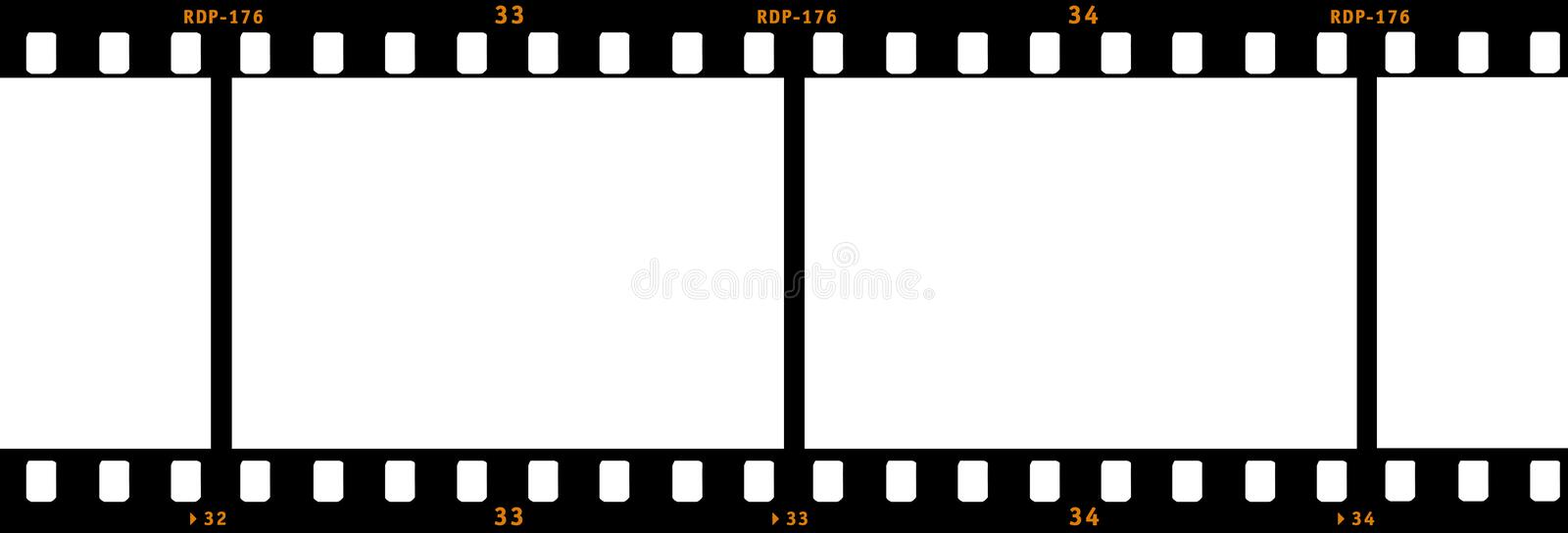 Film Strip. Drawing of a film strip vector illustration