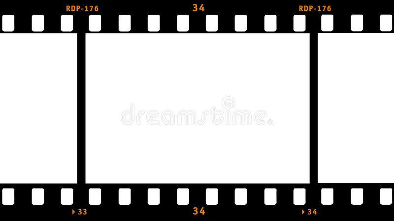 Film Strip. Frame with one full blank area vector illustration