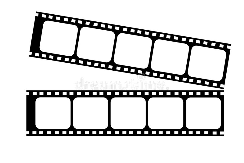 Film strip. Stack of two film strip royalty free illustration
