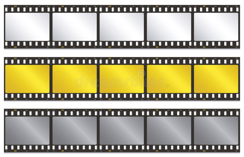 Film strip. Vector illustration of film strip stock illustration