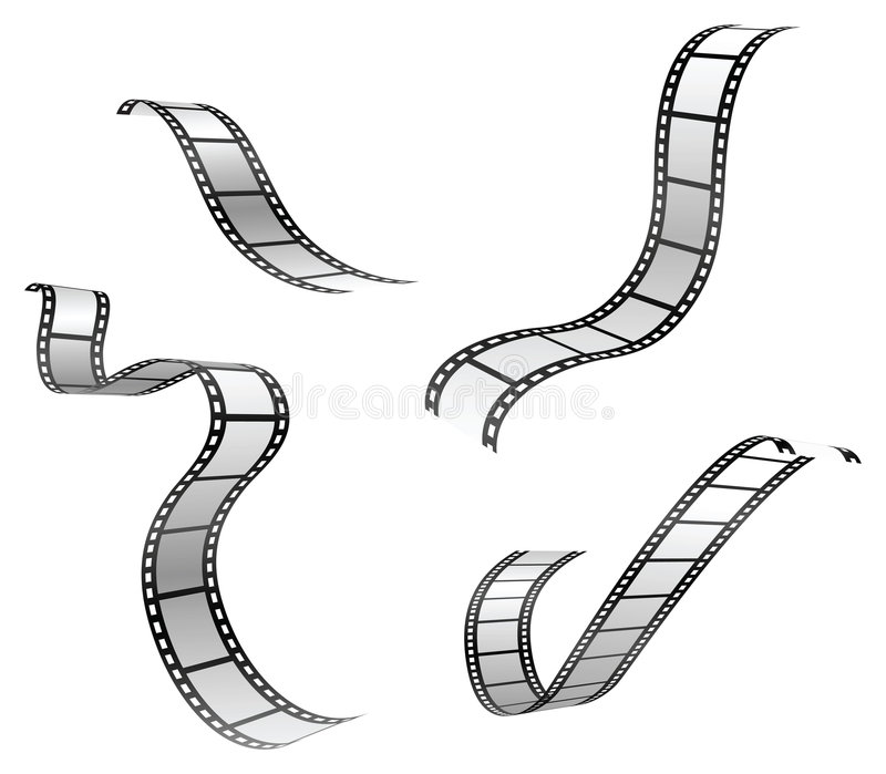 Film strip. Vector set of film strip vector illustration