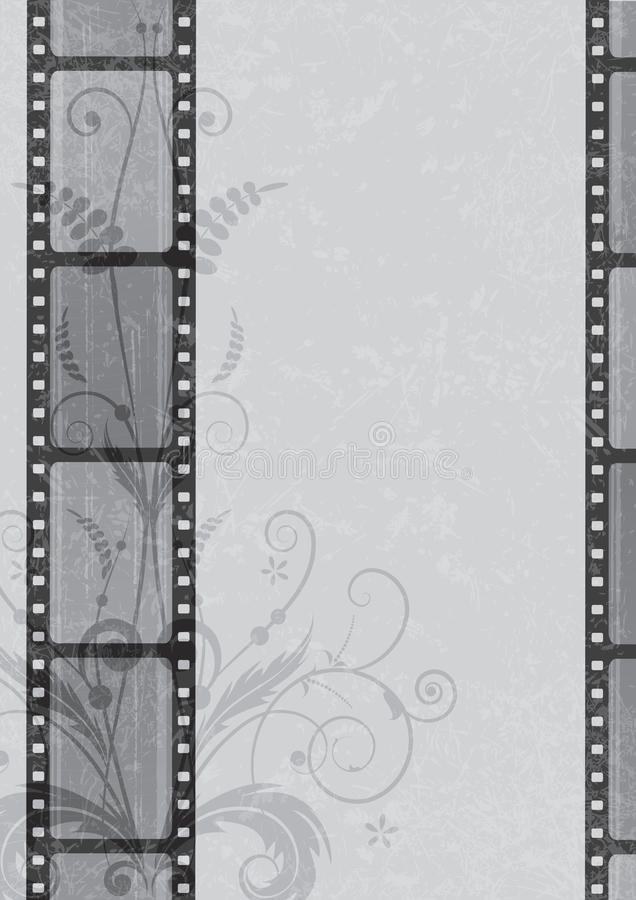 Film strip background vector illustration
