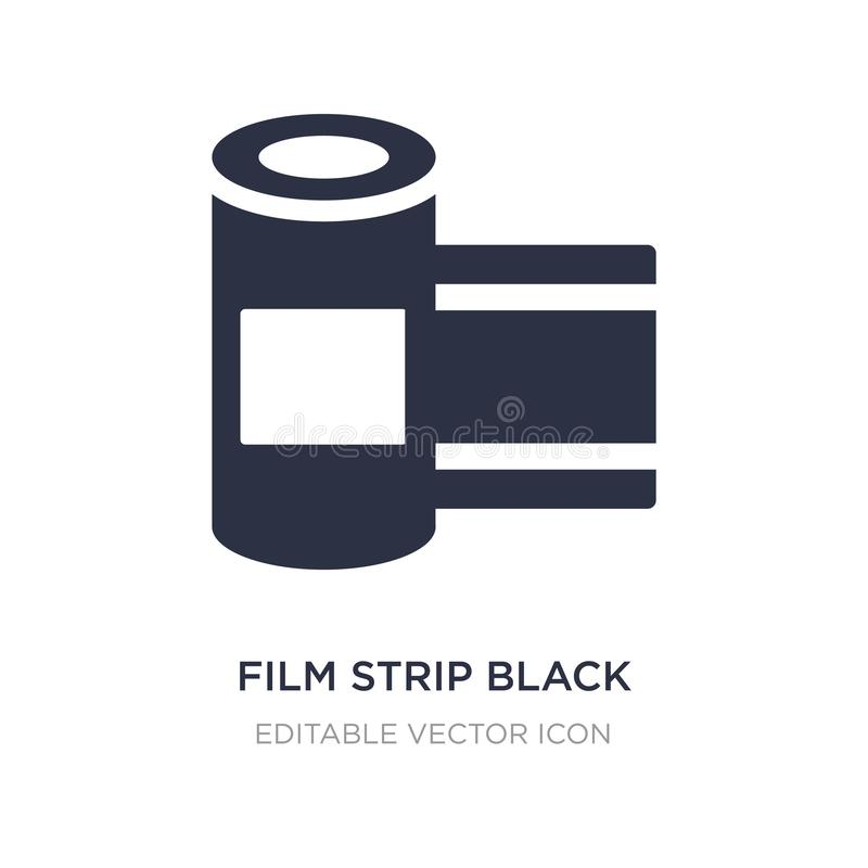 film strip black icon on white background. Simple element illustration from Cinema concept royalty free illustration
