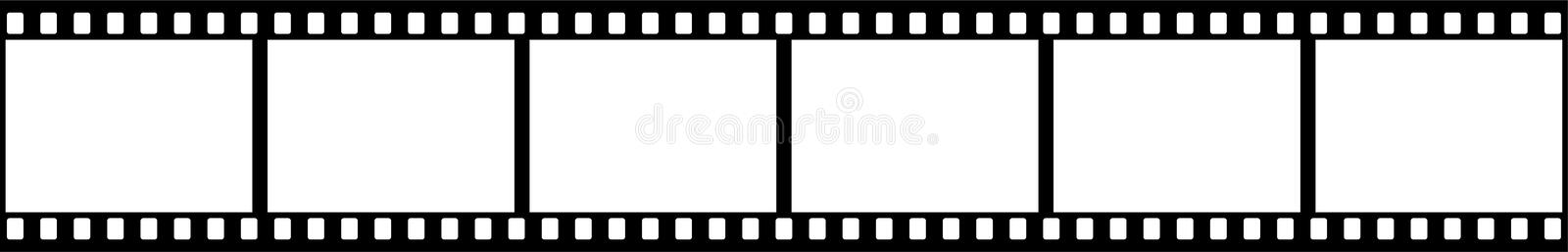 Film strip. Black and white vector illustration of film strip -  isolated on clean white background stock illustration