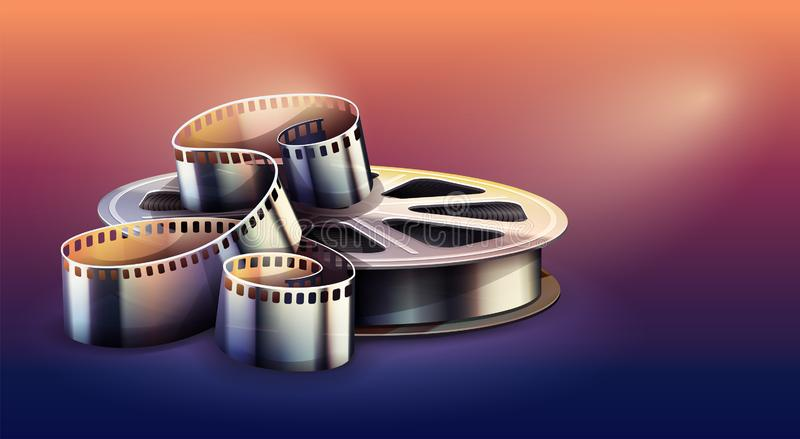 Film-strip for cinema motion picture production. Vector illustration. stock illustration