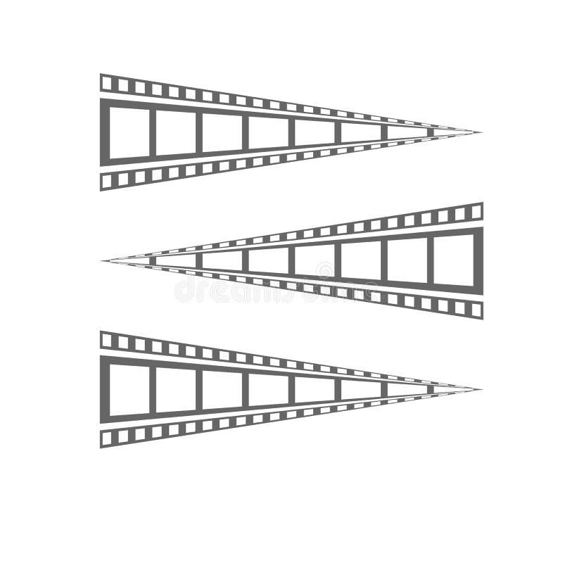 Film strip Cinema strip roll  blank slide frame  photo video monochrome picture negative vintage media filmstrip  vector movie. Design, cinematography vector illustration