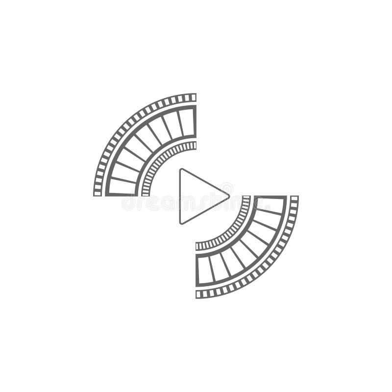 Film strip Cinema strip roll  blank slide frame  photo video monochrome picture negative vintage media filmstrip  vector movie. Design, cinematography royalty free illustration