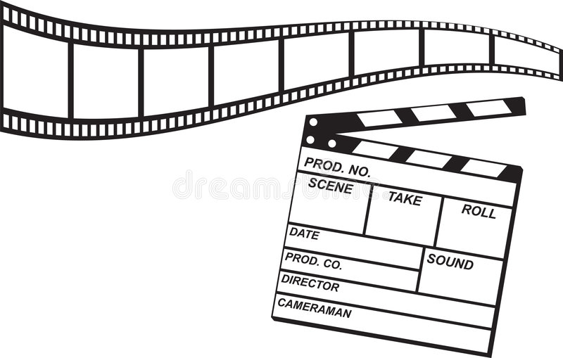 Film Strip and Clapboard royalty free stock photos