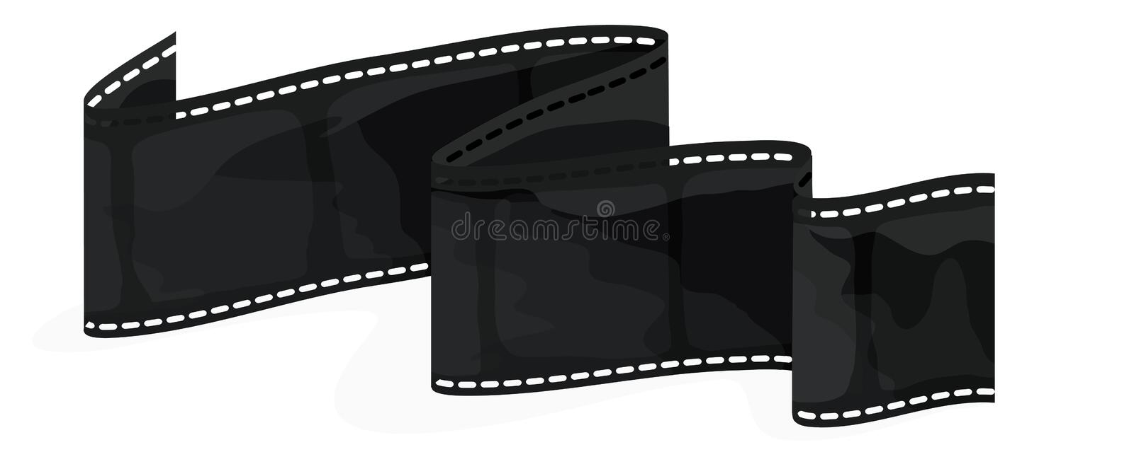 Film Strip with clipping path. Illustration with clipping path vector illustration