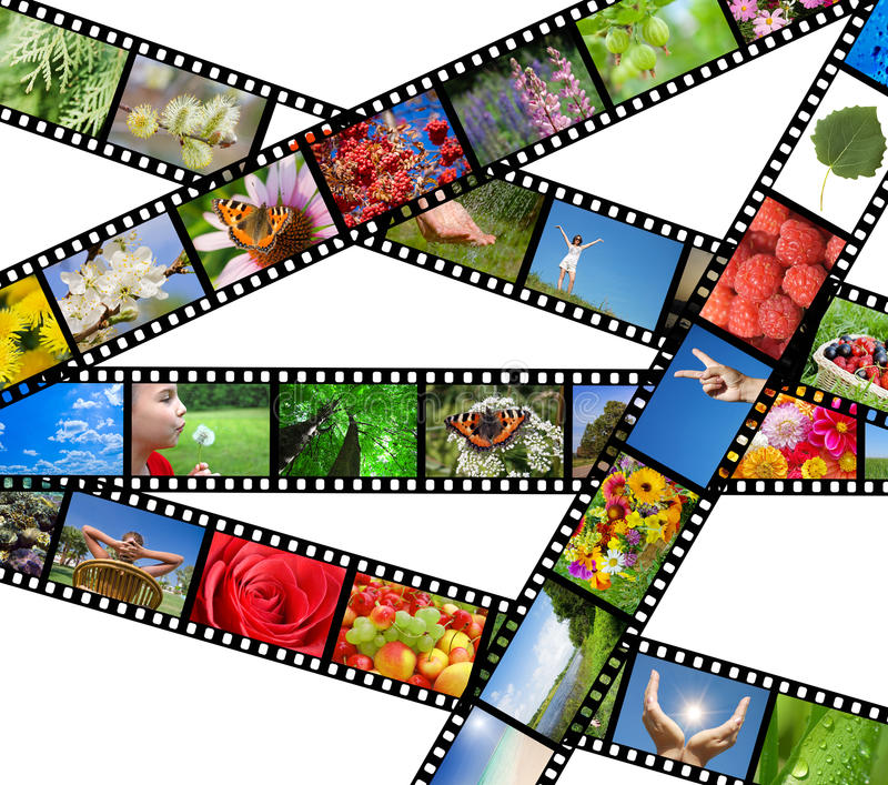 Download Film Strip With Different Photos - Life And Nature Stock Photo - Image: 18656736
