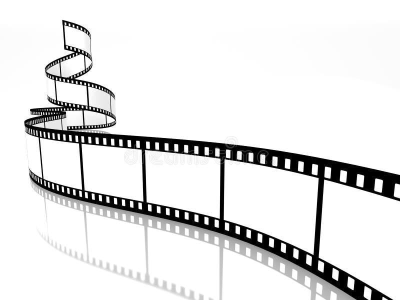 Film strip. Empty film strip on white background stock illustration