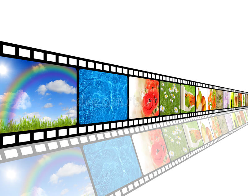 Film strip environment concept royalty free illustration