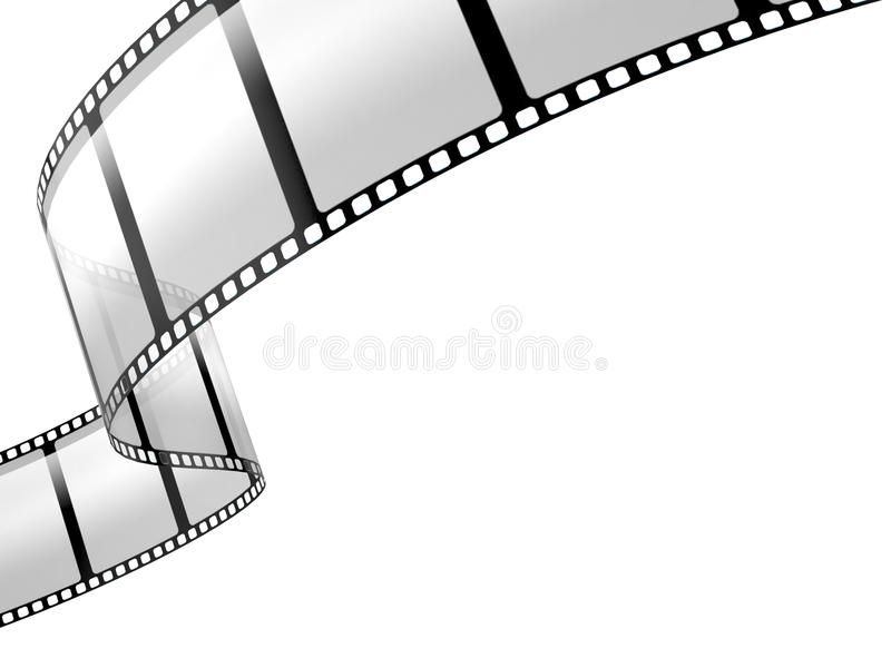 Film strip. On white background stock illustration
