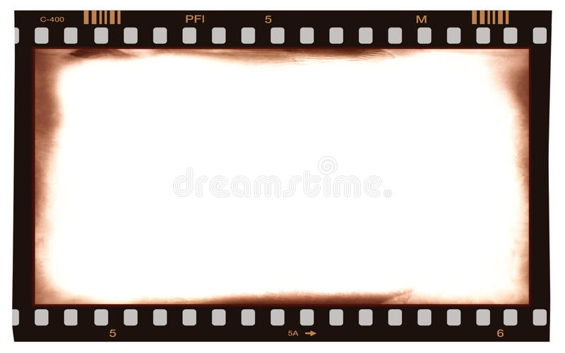 Film strip frame vector illustration