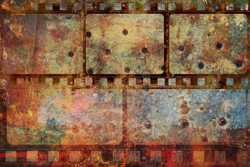 Film strip frame grunge background royalty free stock image