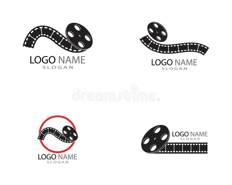 Film strip icon logo template royalty free illustration