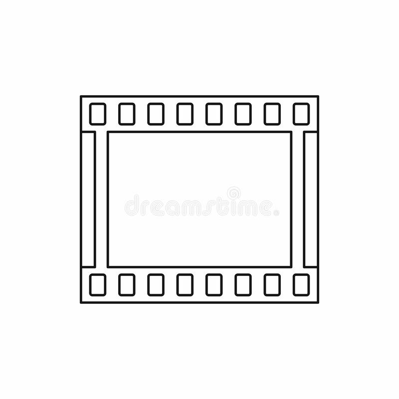 Film strip icon in outline style. On a white background royalty free stock images