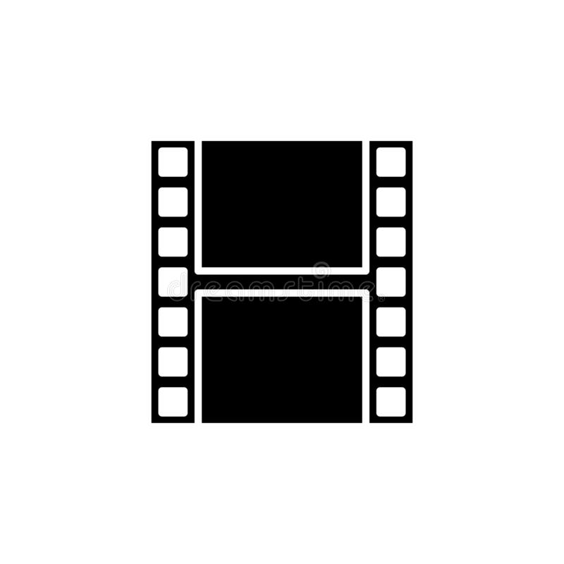 film strip icon. Simple glyph, flat vector of Web icons for UI and UX, website or mobile application vector illustration